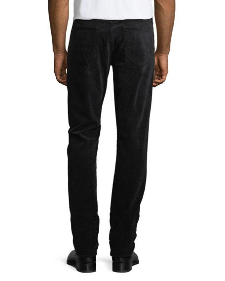 5-Pocket Straight-Leg Corduroy Pants, Worn Charcoal