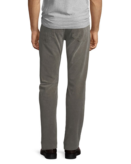 5-Pocket Straight-Leg Corduroy Pants
