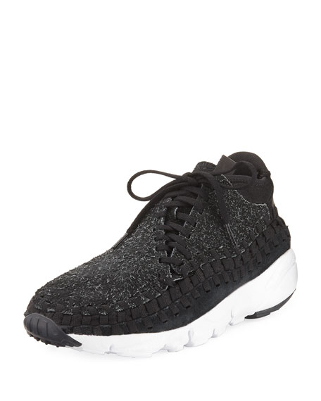 cheap for discount 23588 0b5f6 Nike Men s Air Footscape Woven Chukka Sneaker, Black Gray