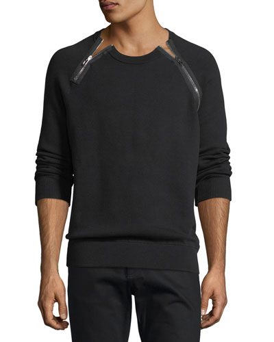 Zipper-Trim Sweatshirt