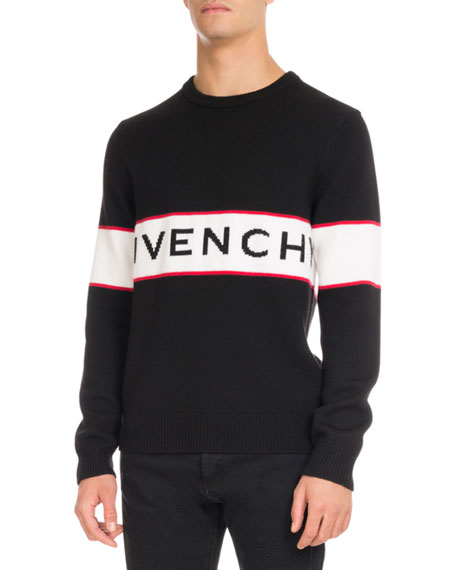 Givenchy Logo-Stripe Wool Sweater 2e60e4ca2b94