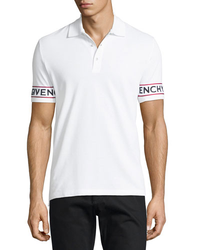 Cuban-Fit Logo-Print Pique Polo Shirt