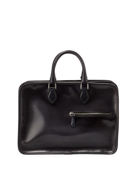 Deux Jours Venezia Calf Leather Briefcase