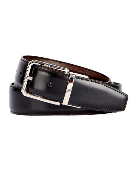 Berluti Versatile 35mm Reversible Leather Belt, Black