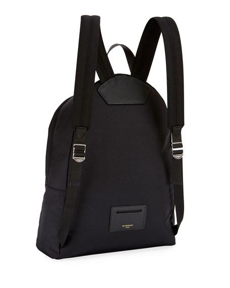 Shark-Print Nylon Backpack, Multicolor