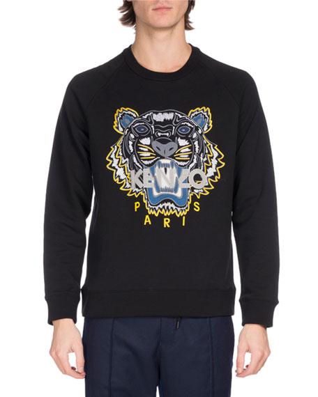 f9b971807a Kenzo Embroidered Tiger Logo Sweatshirt, Black