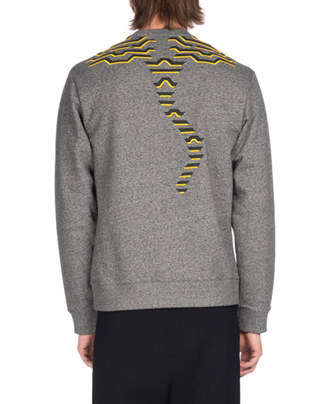 Geometric Tiger Logo Sweatshirt, Gray