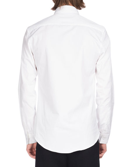 Signature Slim-Fit Cotton Shirt, White
