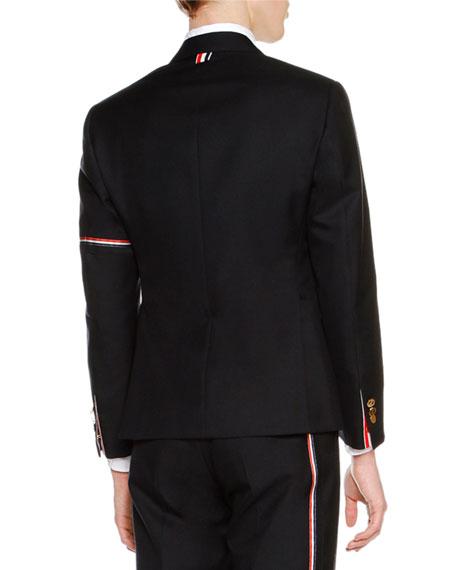 Classic Twill Jacket w/Arm Stripe, Navy