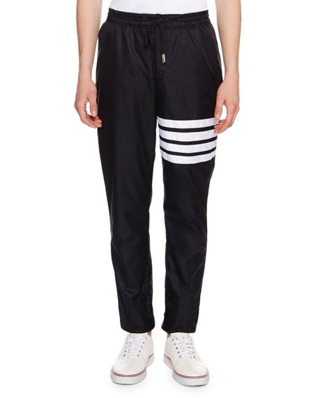 4-Bar Striped Track Pants, Navy