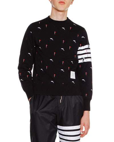 Skier Icon Classic Sweatshirt, Navy