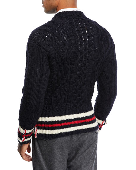 Classic Crewneck Cricket Stripe Sweater