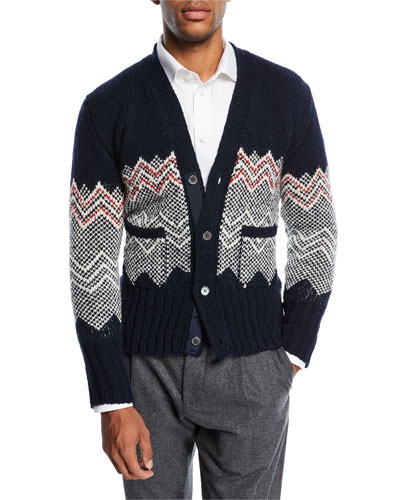 Classic Chevron Fair Isle Cardigan