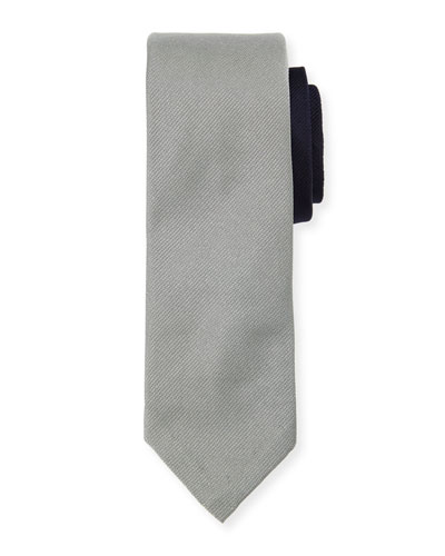 Classic Skinny Tie in Skier on Engineered Stripe Jacquard