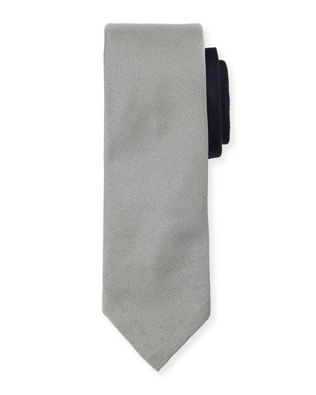 Classic Skinny Tie in Skier on Engineered Stripe Jacquard