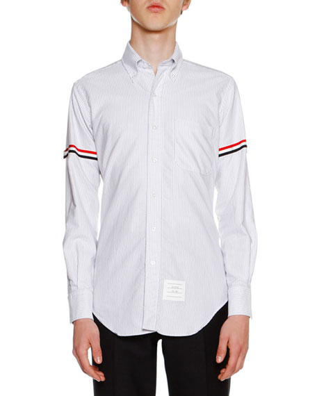 Classic Oxford Shirt with Tricolor Armband