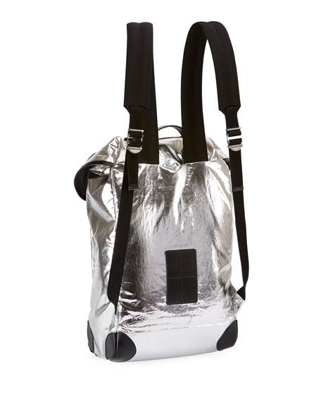 Metallic Rider Backpack, Silver