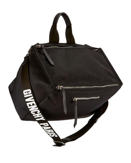 1b857a5873f Givenchy Men's Pandora Nylon Crossbody Bag, Black