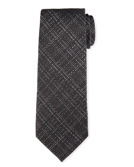 TOM FORD Hopsack Woven Silk Tie