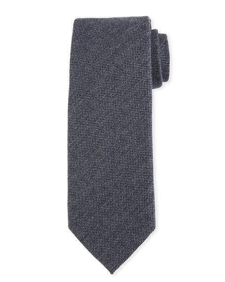 Melange Wool-Silk Tie