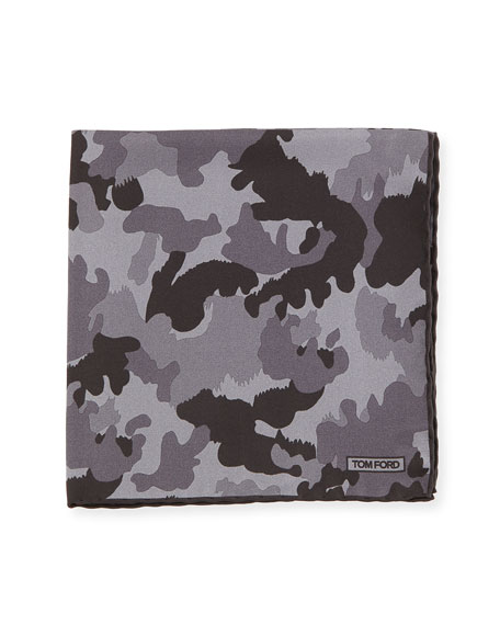 Camouflage Silk Twill Pocket Square