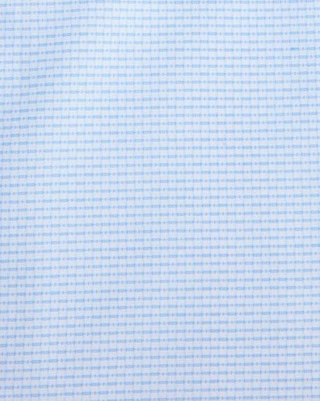 Geometric-Print Dress Shirt, White