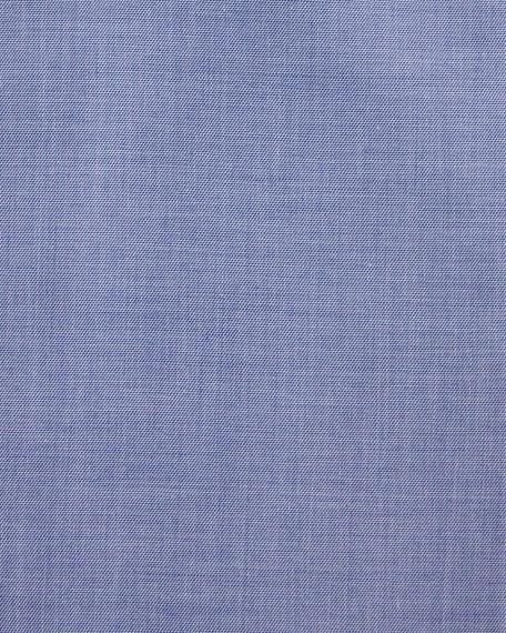 Superior F Light Sharkskin Dress Shirt, Navy Blue