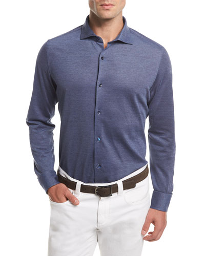 Woven Cotton Oxford Sport Shirt