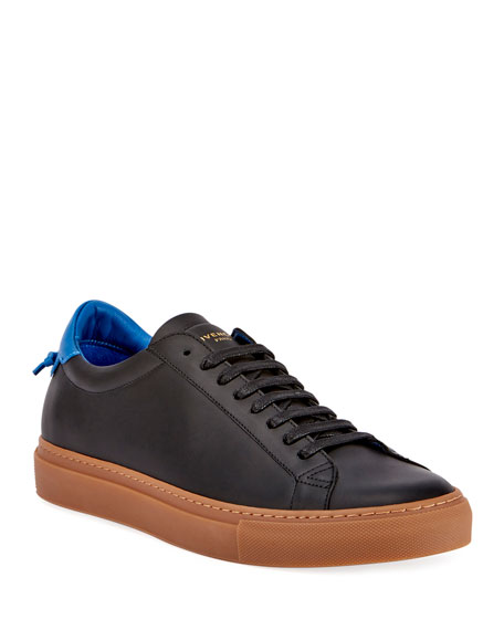 Givenchy Men's Urban Knot Leather Low-Top Sneakers In Black