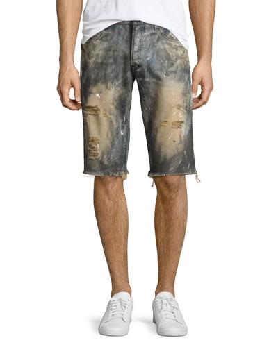 Beach Day Cutoff Denim Shorts  Indigo