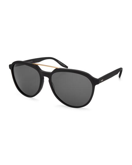 Barton Perreira Men's Bulger Acetate Teardrop Aviator Sunglasses