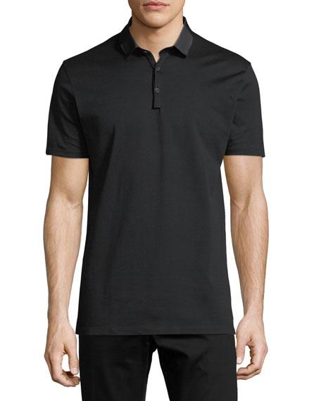 Grosgrain-Collar Polo Shirt