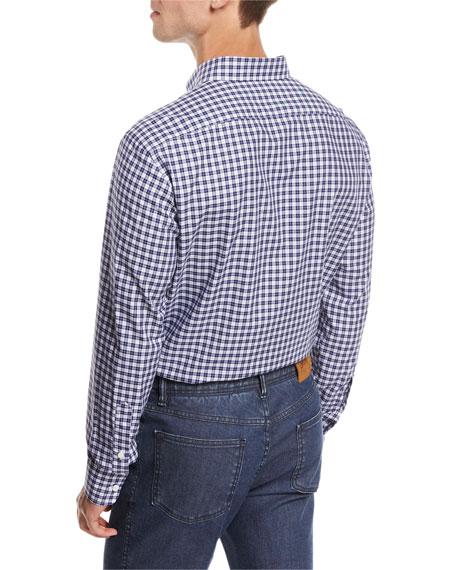 Check Cotton Shirt, Blue