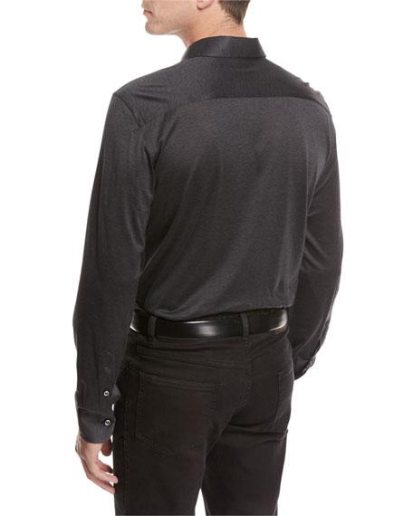 Jersey Cotton Shirt, Gray