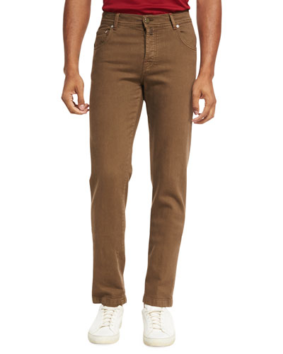 Five-Pocket Stretch-Cotton Pants
