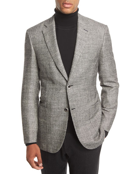 Check Two-Button Sport Coat