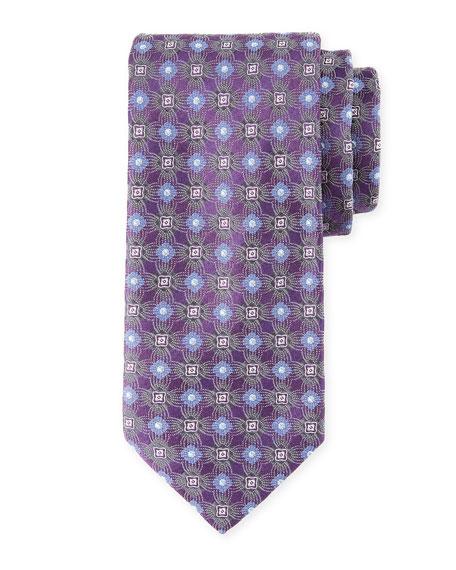 Brioni Circle/Box Silk Tie