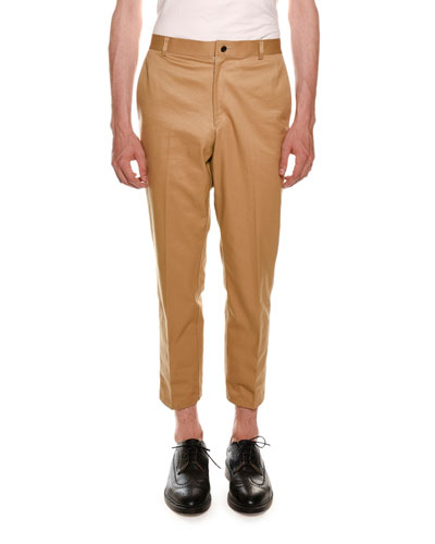 Cropped Twill Chino Pants