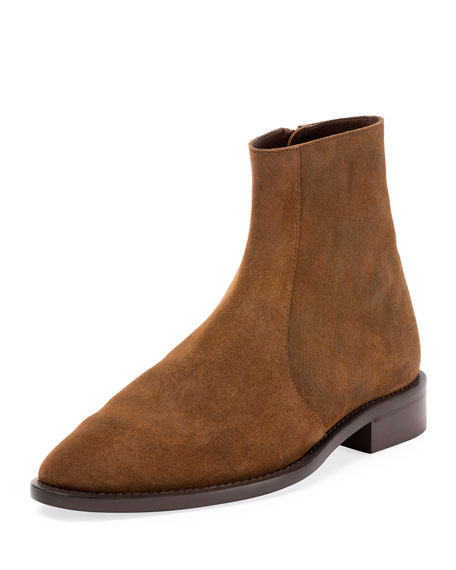 Standard Suede Chelsea Ankle Boot, Brown
