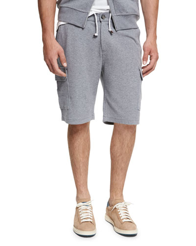 Spa Cargo Sweat Shorts, Medium Gray
