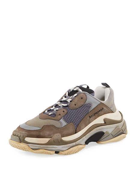fef1958befa7 Balenciaga Triple S Mesh   Leather Trainer Sneaker