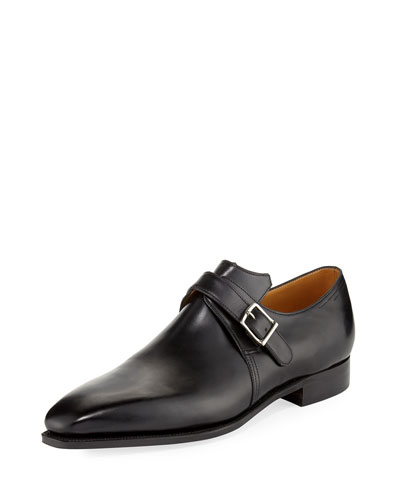 Arca Calf Leather Monk Shoe  Black