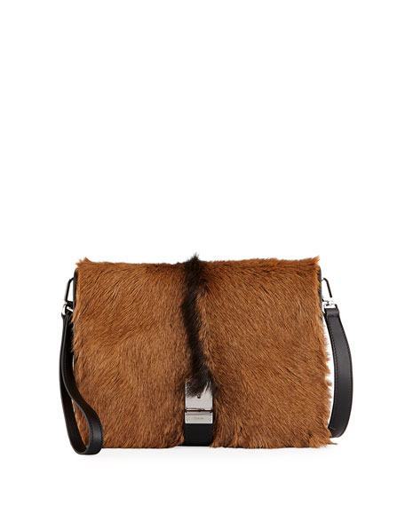 Prada Men's Capretta Fur Messenger Bag