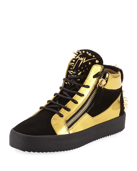Giuseppe Zanotti Black & Yellow Belt Sneakers
