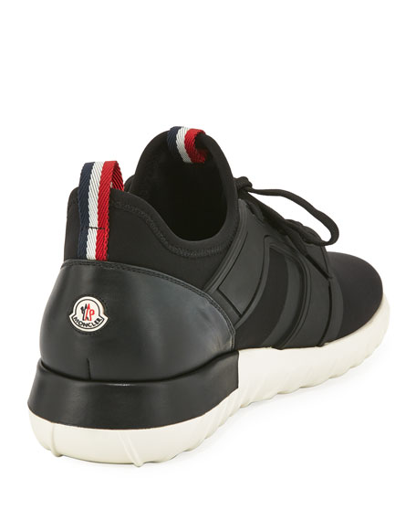 MONCLER Emilien Trainer Sneaker, Black in Green|Bianco