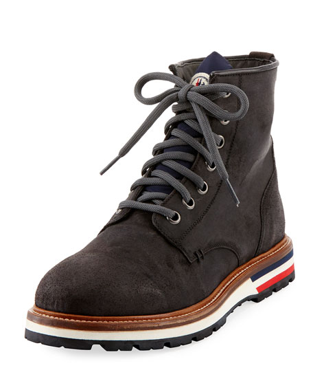 for sale online buy cheap 100% authentic Moncler Leather Lace-Up Boots f8xKyZvy2r