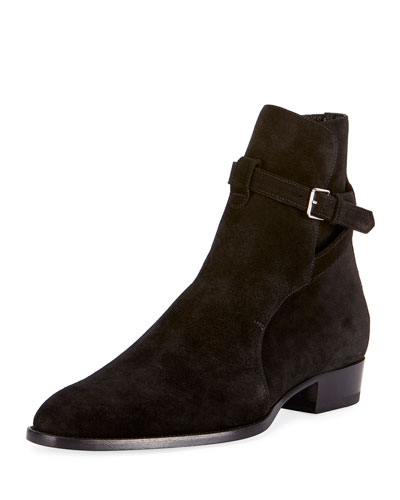 Wyatt 30 Suede Ankle Boot, Black