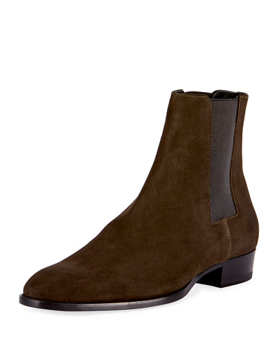 Wyatt 30 Suede Chelsea Boot, Green