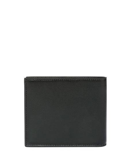 YSL Patch Leather Bi-Fold Wallet, Black