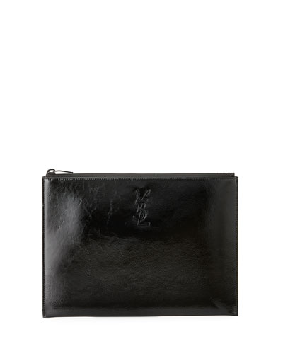 Monogram Patent Leather Zip Pouch